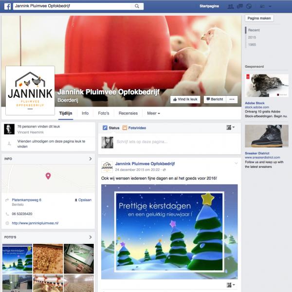 Jannink op Facebook